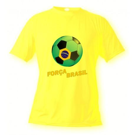 T-Shirt Football - Força Brasil, Safety Yellow