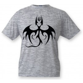 Kids T-shirt - Bat Dragon, Ash heater