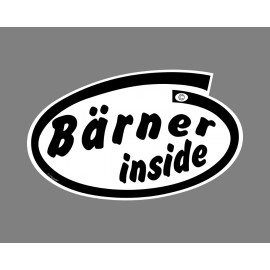 Car's Funny Sticker - Bärner inside