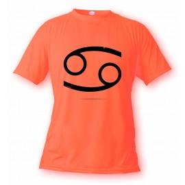 Women's or Men's astrological sign T-shirt - Cancer, Safety Orange