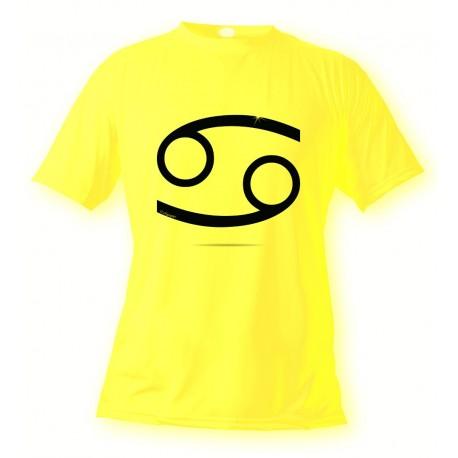 T-Shirt signe du Zodiaque - Cancer - pour femme ou homme, Safety Yellow
