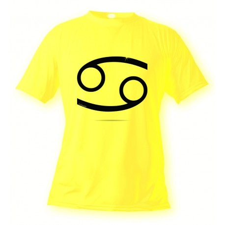 Donna o Uomo Segno Zodiacale T-shirt - Cancro, Safety Yellow