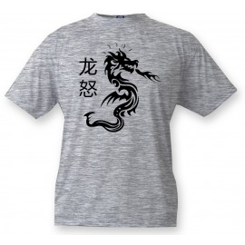 Kids T-shirt - Dragon Fury, Ash heater