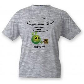 Kinder T-Shirt Alien smiley - OUPS !!!, Ash heater