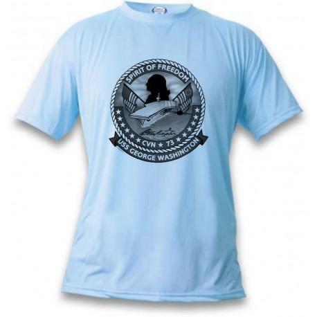 T-Shirt aviation - USS George Washington, Blizzard Blue