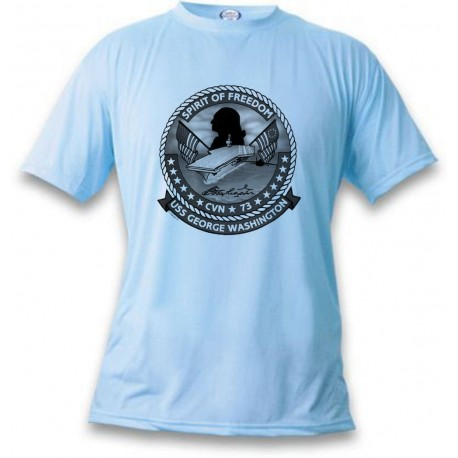 Women's or Men's Aircraft T-shirt - USS George Washington, Blizzard Blue