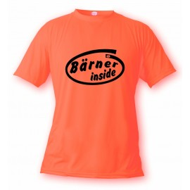 Humoristisch T-Shirt - Bärner inside, Safety Orange