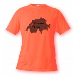 Women's or Mens Swiss T-shirt - One Voice, Safety Orange