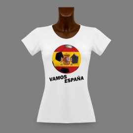 Women's slim soccer T-shirt - Vamos España