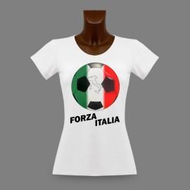 Fussball  Slim Frauen T-shirt - Forza Italia