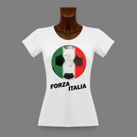 Women's slim Soccer T-Shirt - Forza Italia