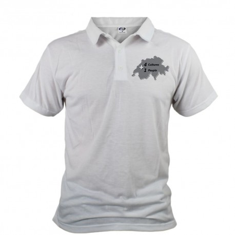 Herren Polo - 1 Peuple, White