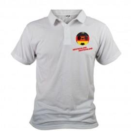 Men's Soccer Polo shirt - Deutschland Deutschland, White