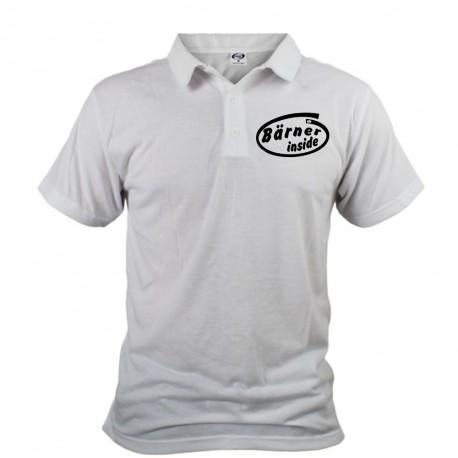Men's Funny Polo shirt - Bärner inside, White