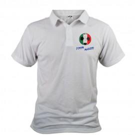 Uomo Calcio Polo - Forza Azzurri, White