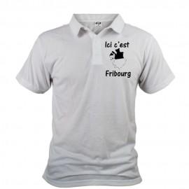 Men's Polo shirt - Ici c'est Fribourg, White