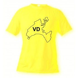 T-Shirt vaudois - VD, Safety Yellow