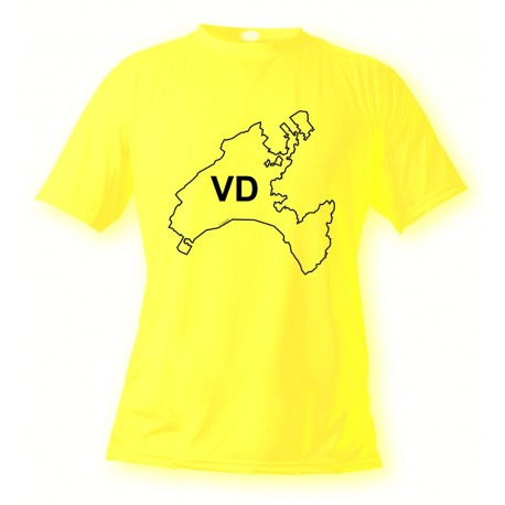 Men's or Women's Vaudois T-shirt - VD, Safety Yellow