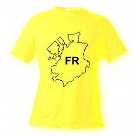 Donna o Uomo T-shirt - Fribourg - FR, Safety Yellow