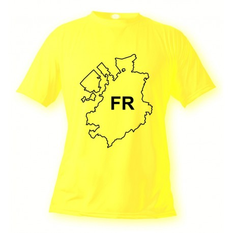 T-Shirt fribourgeois - FR - pour femme ou homme, Safety Yellow