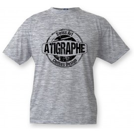 Men's or Women's T-Shirt - aTigraphe®,  Ash Heater