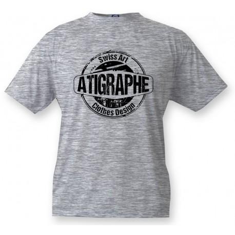 Men's or Women's T-Shirt - aTigraphe®, Ash Heater
