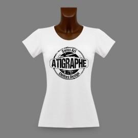 T-Shirt slim moulant pour femme - aTigraphe®