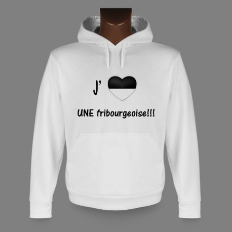 Hooded Funny Sweat - J'aime UNE fribourgeoise