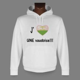 Sweat à capuche - J'aime UNE Vaudoise