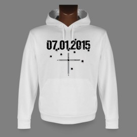 Sweatshirt blanc à capuche - 07.01.2015