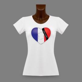 Donna Slim T-shirt - Cuore francese - en mémoire de Charlie