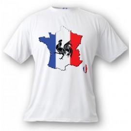 T-Shirt - Frankreich, White - für Frauen oder Herren