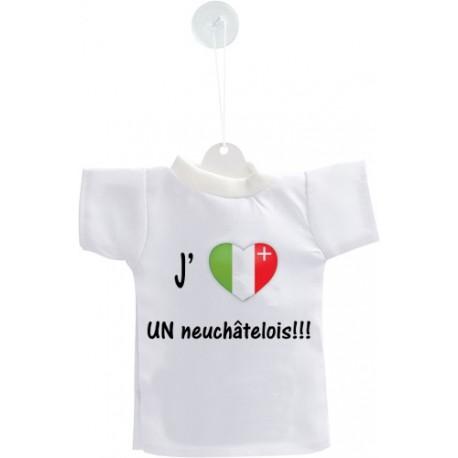 Mini T-Shirt - J'aime UN neuchâtelois