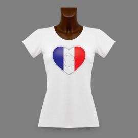 Women's slinky T-Shirt - French Heart