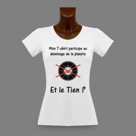Slim Frauen T-shirt - Minenräumung Teilnehmen