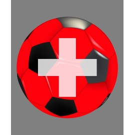 Sticker - ballon de football suisse - pour voiture, notebook, tablette ou smartphone