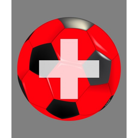 Sticker - Swiss soccer ball, for car, Notebook, smartphone, tablet