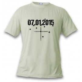 T-Shirt - 07.01.2015 en mémoire de Charlie, November White