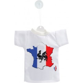 Mini T-Shirt - France, pour voiture, bouteille ou fenêtre