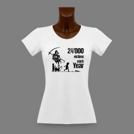 Women's Fashion T-shirt - Children victims of abandoned war ammunitions