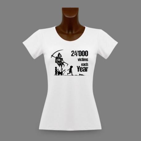 Damenmode T-shirt - Kinder Opfer der verlassenen Kriegsmunitionen