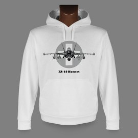 Hooded Fighter Aircraft Sweatshirt - Swiss FA-18 Hornet