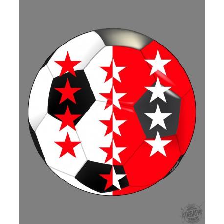 Sticker - pallone di calcio Vallese, per automobile, notebook o smartphone