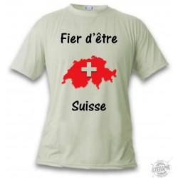 Men's T-Shirt -  Fier d'être Suisse
