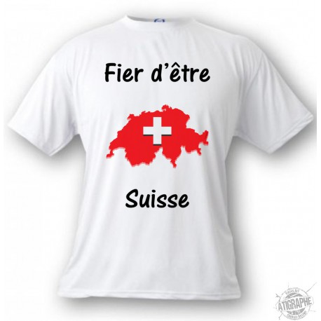 T-Shirt -  Fier d'être Suisse - für Herren