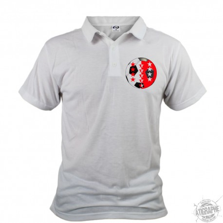 Men's Soccer Polo shirt - pallone di calcio Vallese