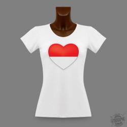 T-Shirt slim moulant pour femme - Coeur soleurois