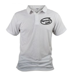 Men's Polo shirt - Parisien inside, White