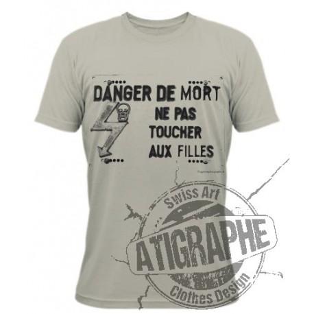 Funny T-Shirt - Les filles électriques, Alpin Spruce