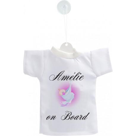 Mini T-Shirt - Baby on Board - Nome figlia personalizzabile